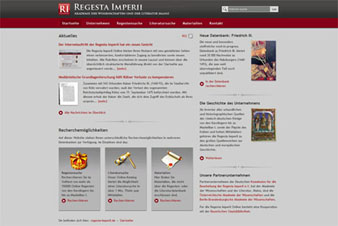 Regesta Imperii Website