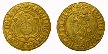 King Albrecht II, florin. Imperial mint of Basel.