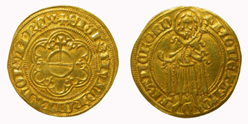 King Sigismund, florin. Imperial mint of Frankfurt am Main.