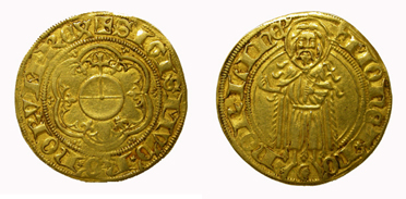King Sigismund, florin. Imperial mint of Nördlingen.