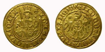 King Sigismund, florin. Imperial mint of Nuremberg.