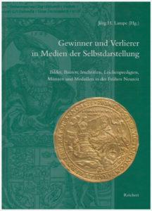 Buchcover mit Abbildung der Wolgaster Gedächtnismünze von 1633 auf den Tod Gustav II. Adolfs von Schweden