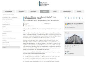 Website mit Anmeldung (Screenshot)